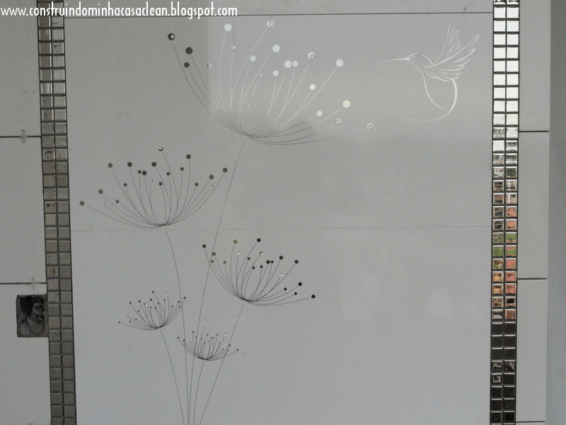 Construindo Minha Casa Clean Projeto do Banheiro da Suíte! -> Banheiro Decorado Com Revestimento Eliane