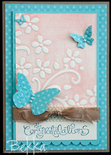 Soft Pink and Turquoise Card