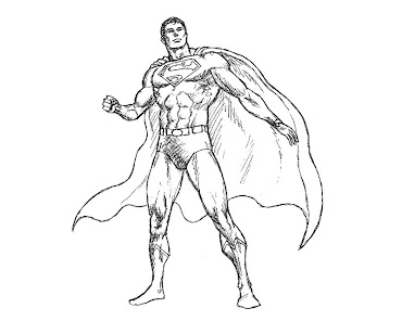 #9 Superman Coloring Page
