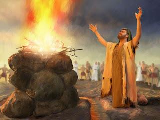 profeta Elías, el fuego de Dios y el poder intercesor de la oración