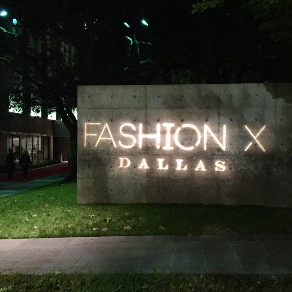 Fashion industry gallery - A Custom Gobo Installation From Dallas Light And Sound Greeted Fashion X Dallas Patrons As They Arrived At The Fashion Industry Gallery
