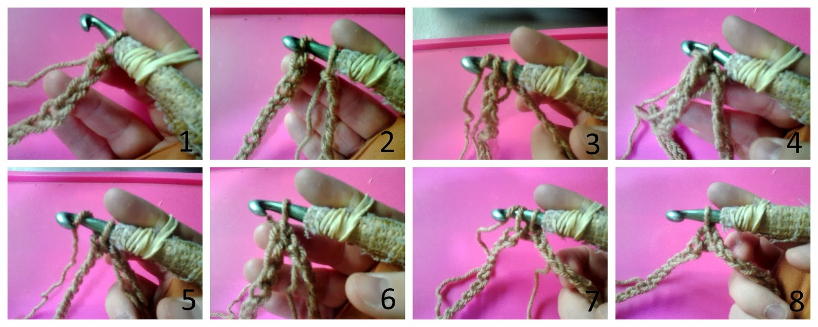 Insert your hook through the first chain and join together the 2 ends with a slip stitch.