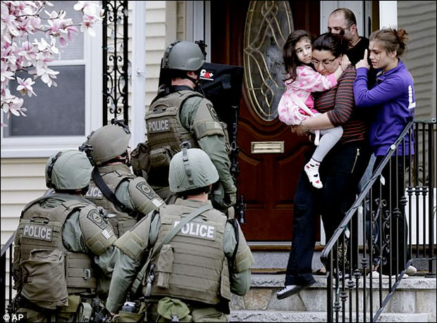 Martial law in Watertown, Massachusetts, April 19, 2013