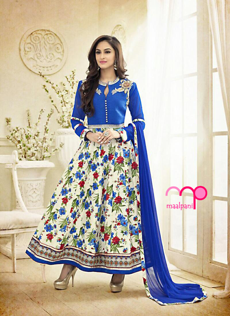 Trendy Floor Length Salwar Kameez Suit Available On Maalpani Ethnic Store All Products In This Catalog Have Floral Designs Lower Parts