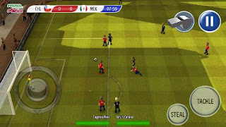 Screenshots of the Striker soccer: America 2015 for Android tablet, phone.