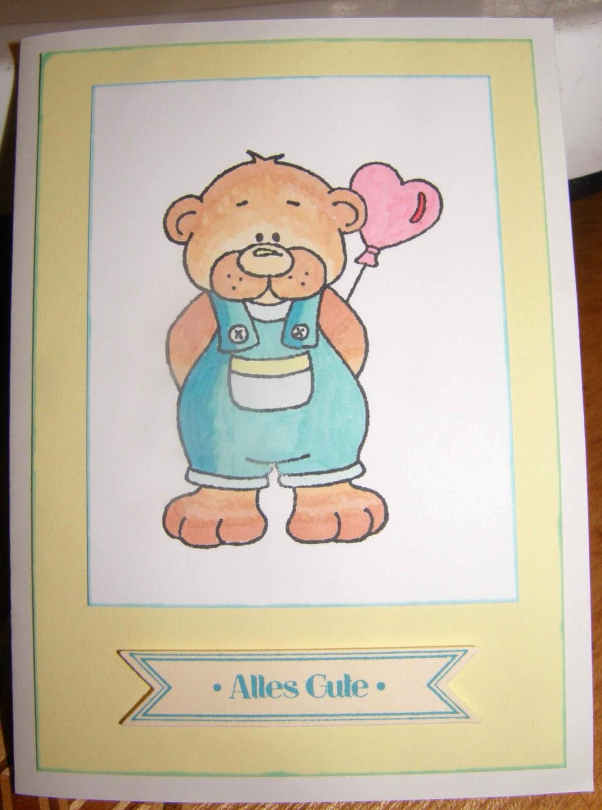 Klaudias Bastelideen: Geburtstagskarte für meine Freundin