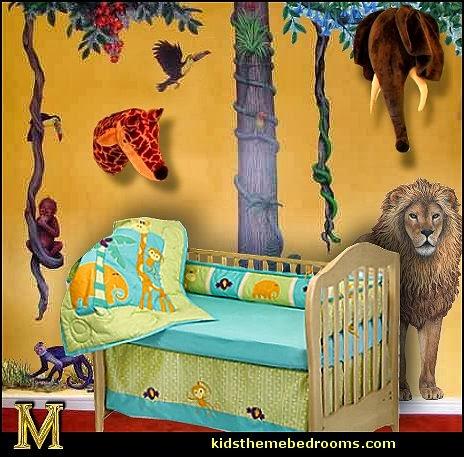 Jungle Nursery Wild Animals Wall