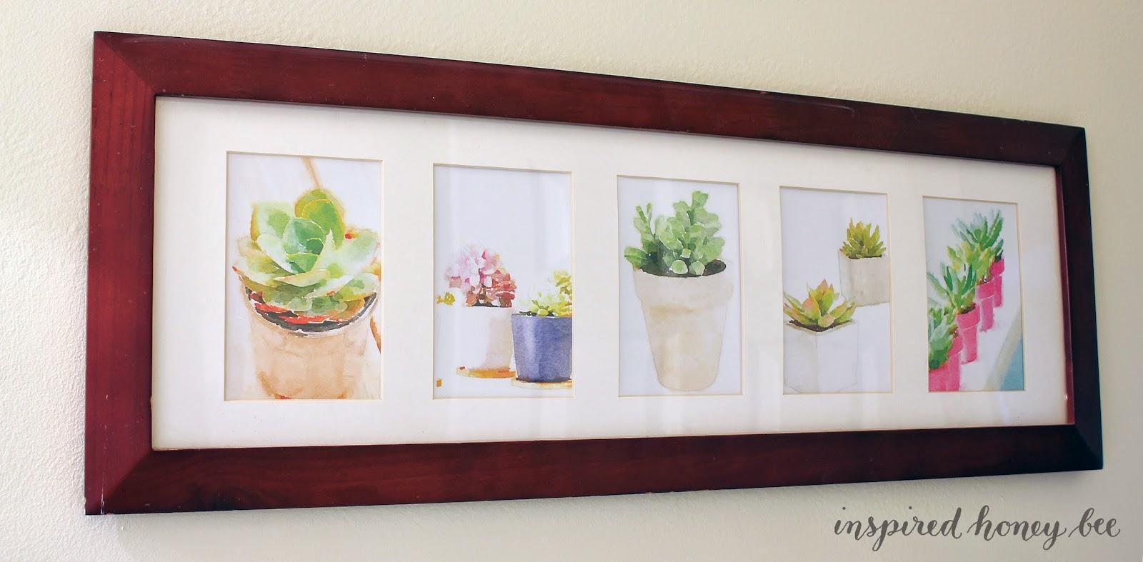 craft: DIY succulent watercolor prints
