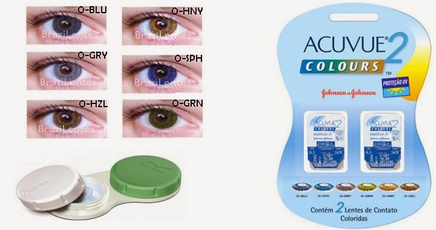 Lente de contato acuvue 2 colors johnson   johnson cartela com 2 unidades -  01 Par. COMPRAR 2ebf019563