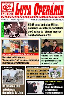 LEIA A EDIÇÃO DO JORNAL LUTA OPERÁRIA, Nº 232, 2ª QUINZENA DE MARÇO/2012