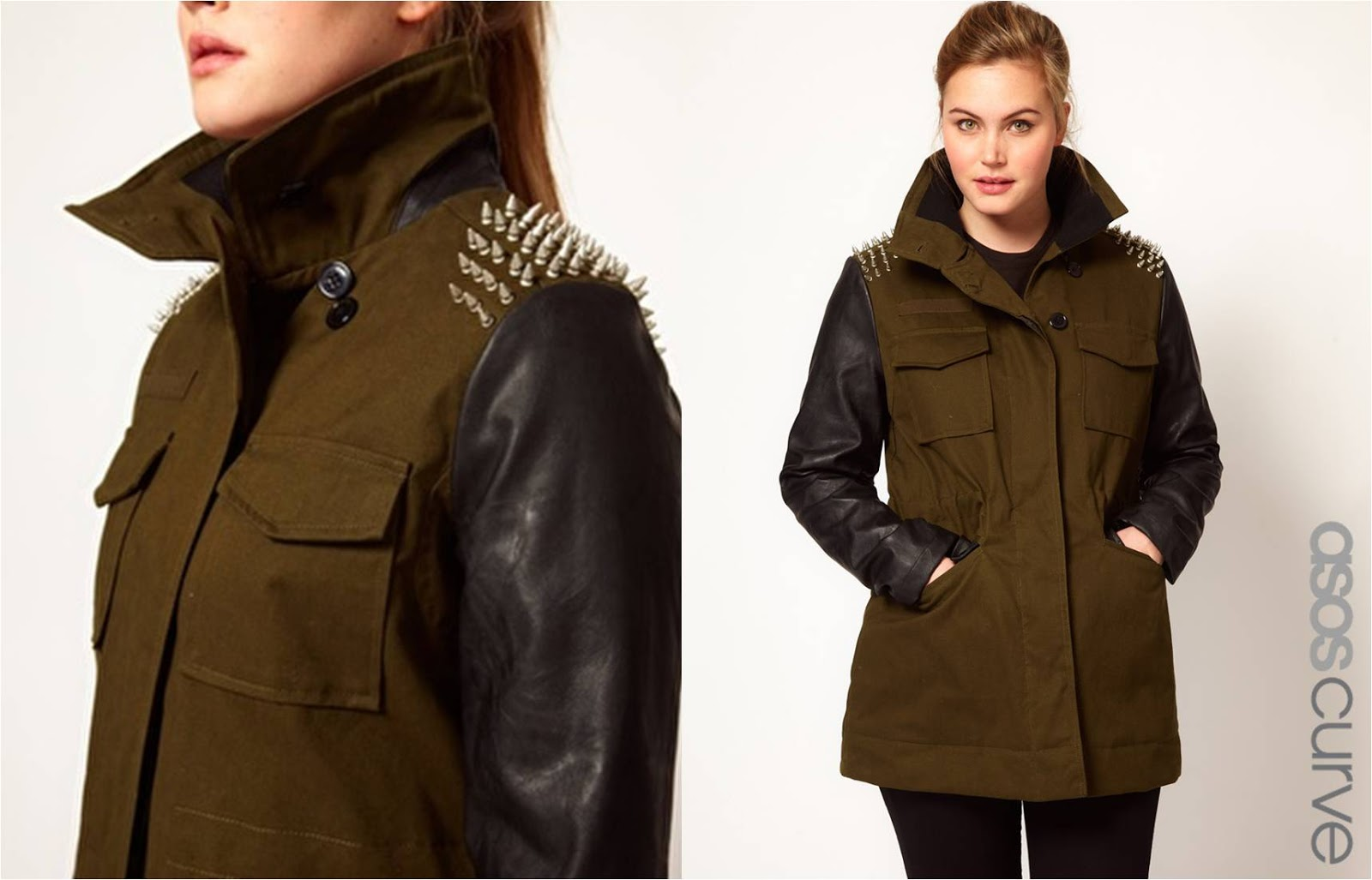 Wishlist Wednesday: ASOS CURVE Military Jacket With Studded ...