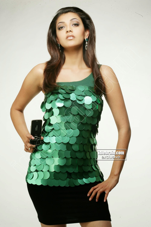 Kajal Agarwal black mini skirt