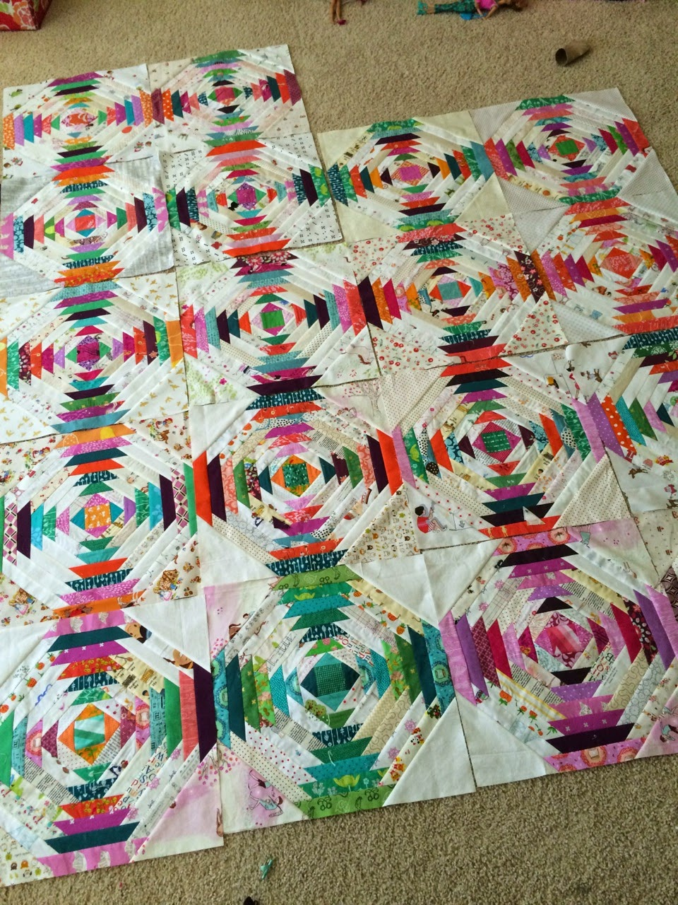 a quilt is nice: Pineapple quilt