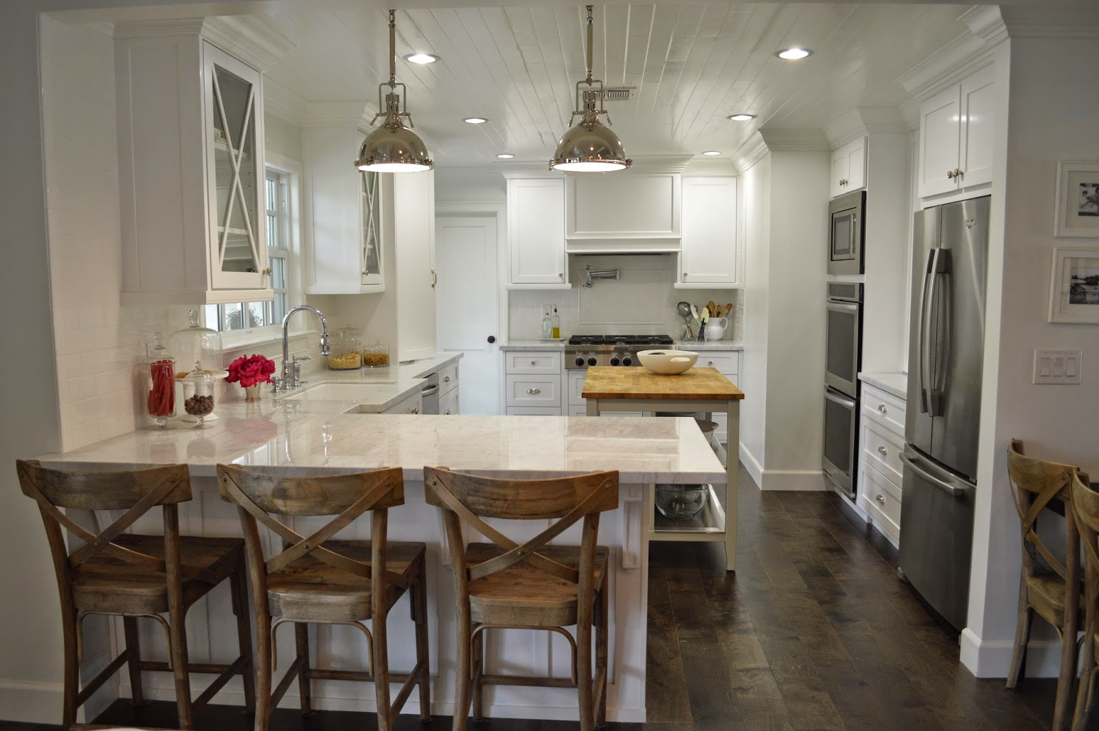 The cape cod ranch renovation great room continued kitchen for Cape cod remodel ideas