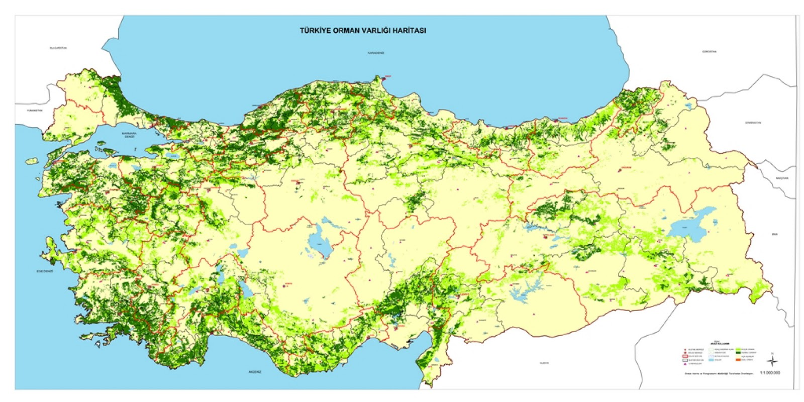 Physical Map Of Turkey