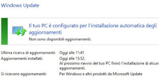 problemi installare windows update