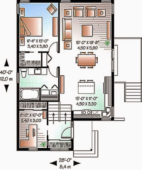 Gambar Denah Rumah Minimalis Sederhana 1 lantai dan 2 lantai