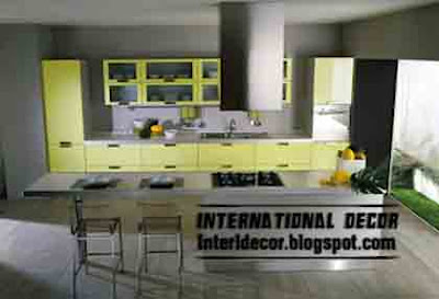 yellow color in kitchen Yellow Kitchen Designs 2013   Yellow Kitchen photos 2013