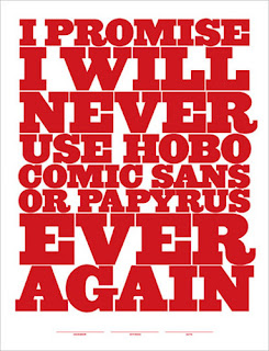 Hobo, Comic Sans, Papyrus.