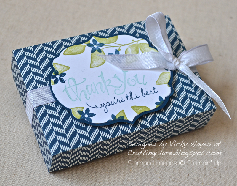 Box with Labels framelit from Stampin Up