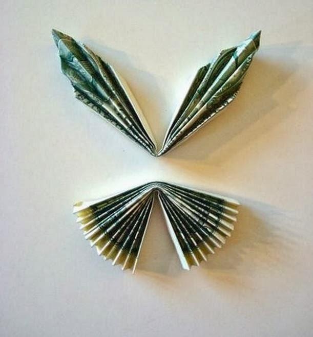 diy money butterfly origami