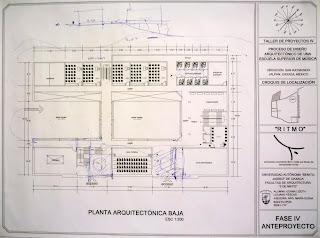 Fases de dise o primer propuesta de planta arquitect nica for Que es una planta arquitectonica