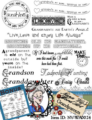 Grandparents word art sheet