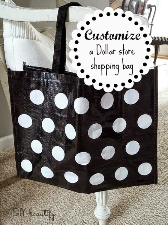 Customize a dollar store bag DIY beautify blog