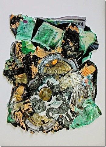 Geld strijkt alle oneffenheden glad 51x71 inc  lijst