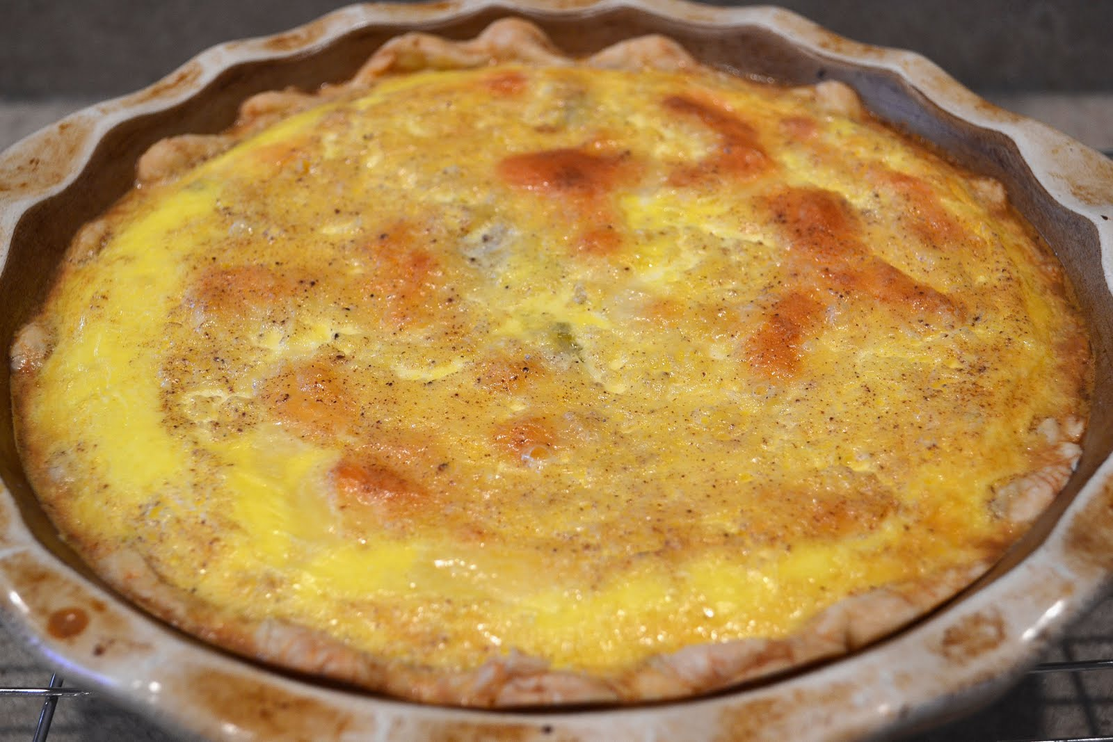 Quiche Lorraine for St. Joan of Arc