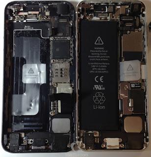 Comparación en el interior entre el iPhone 5S y el 5
