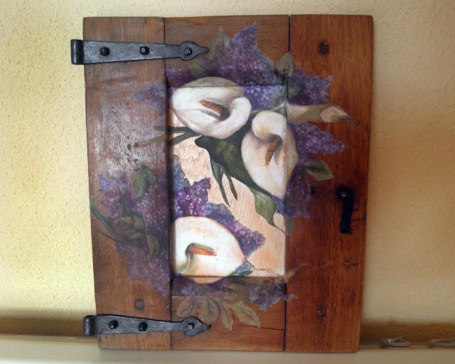 Retazos de madera contraventanas antiguas decoradas - Cosas antiguas para decorar ...
