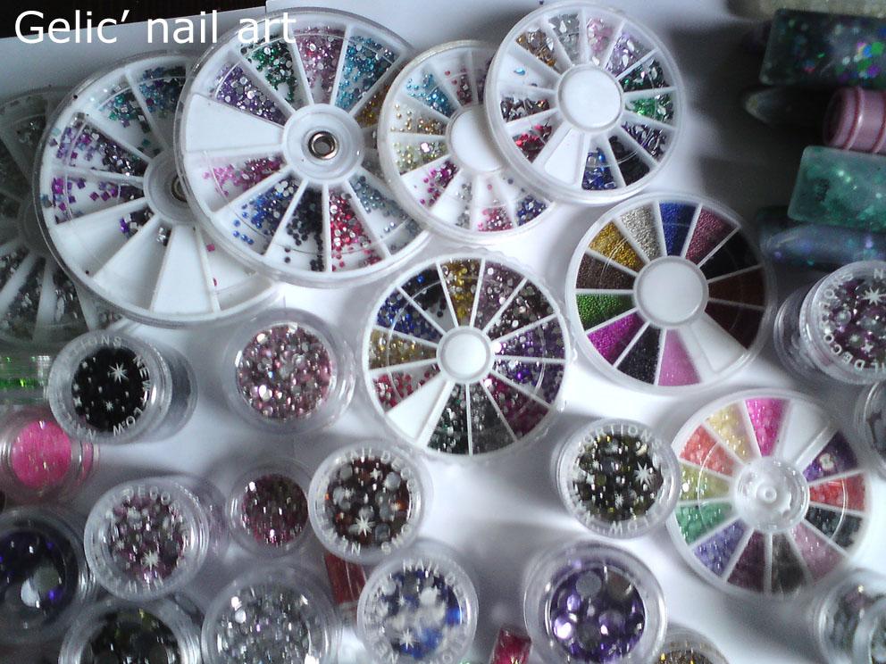 Gelic\' nail art: My nail art stuff - part 1, rhinestones part 1