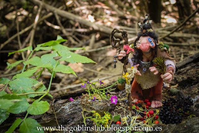 ooak art doll goblin healer