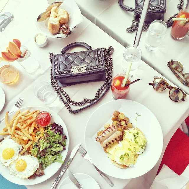 Sunday brunch, robert nyc, le specs sunglasses, chanel boy bag, fashion blog