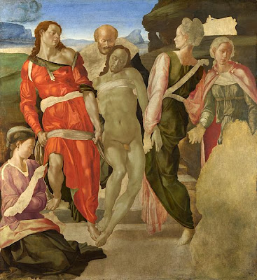 "Painting ""The Entombment"" Unfinished by Michelangelo, 1500-1501"
