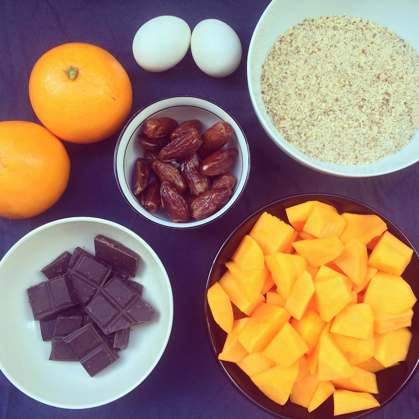 brownies courge orange dattes