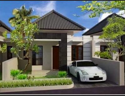 tampak depan rumah minimalis type 36