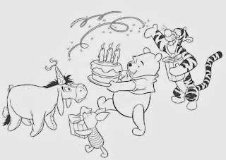 Winnie the pooh coloring pages birthday for Winnie the pooh birthday coloring pages
