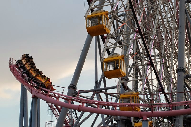 Vanish Roller Coaster | Cosmo Land Amusement Park, Yokohama, Japan