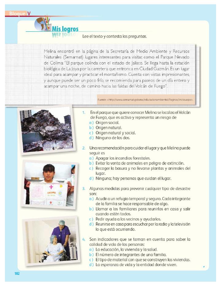 Mis logros - Geografía 4to Bloque 5 2014-2015