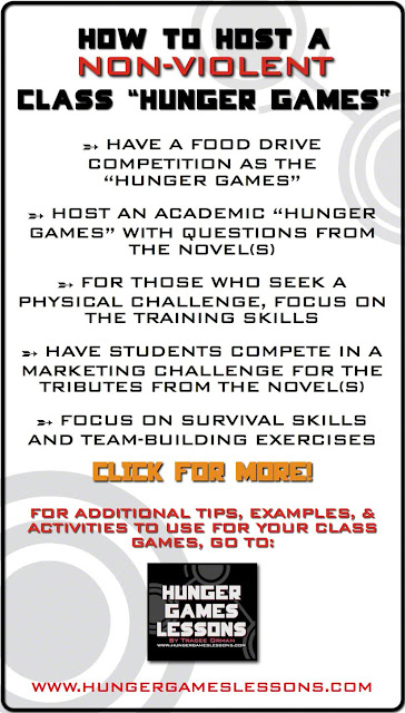 How to host a non-violent Hunger Games class activity from: www.hungergameslessons.com
