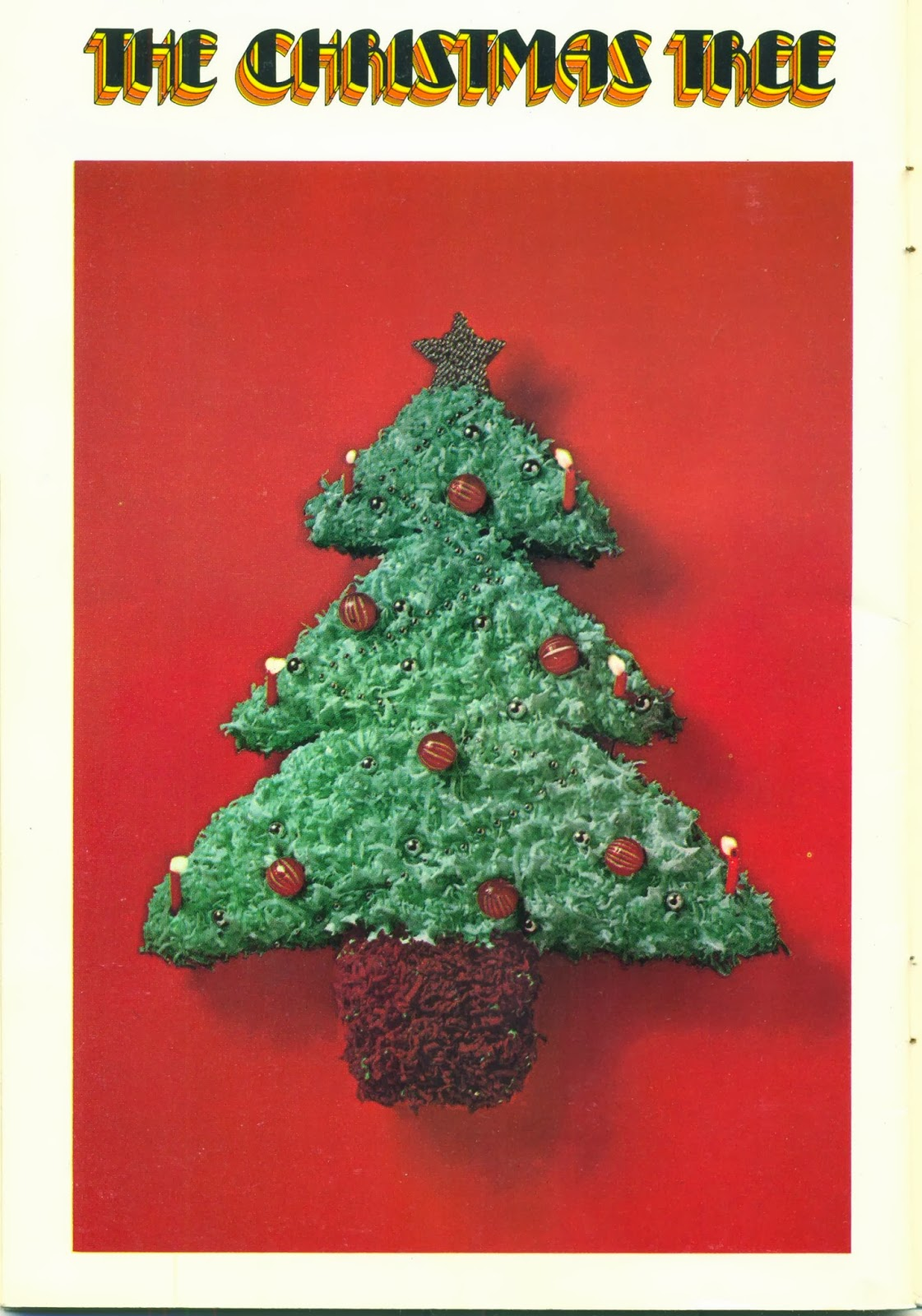 How To Decorate A Christmas Tree With Coconut On Cake