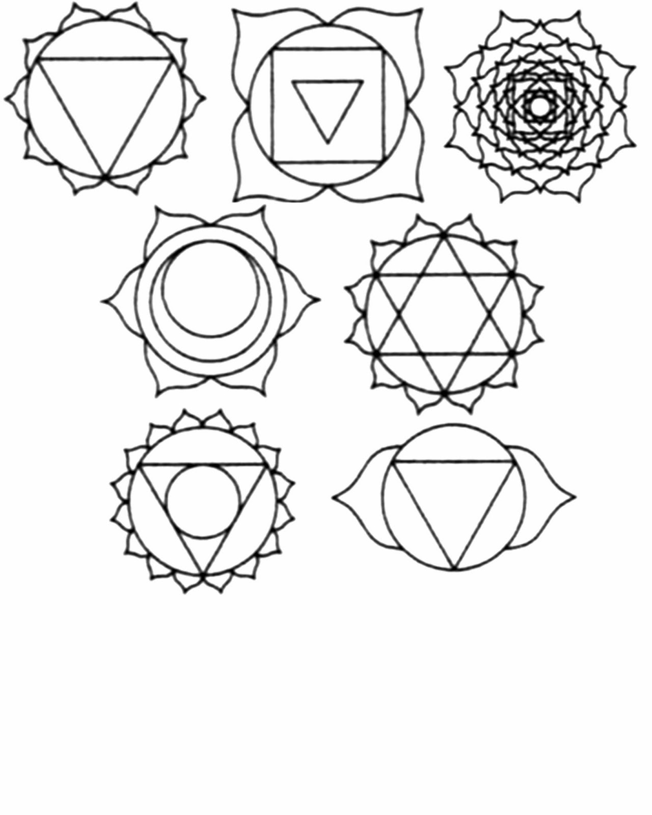 chakra symbols coloring pages - photo#5
