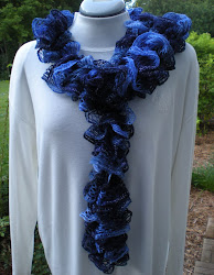 Ruffled Scarf with Red Heart Sashay Pictures