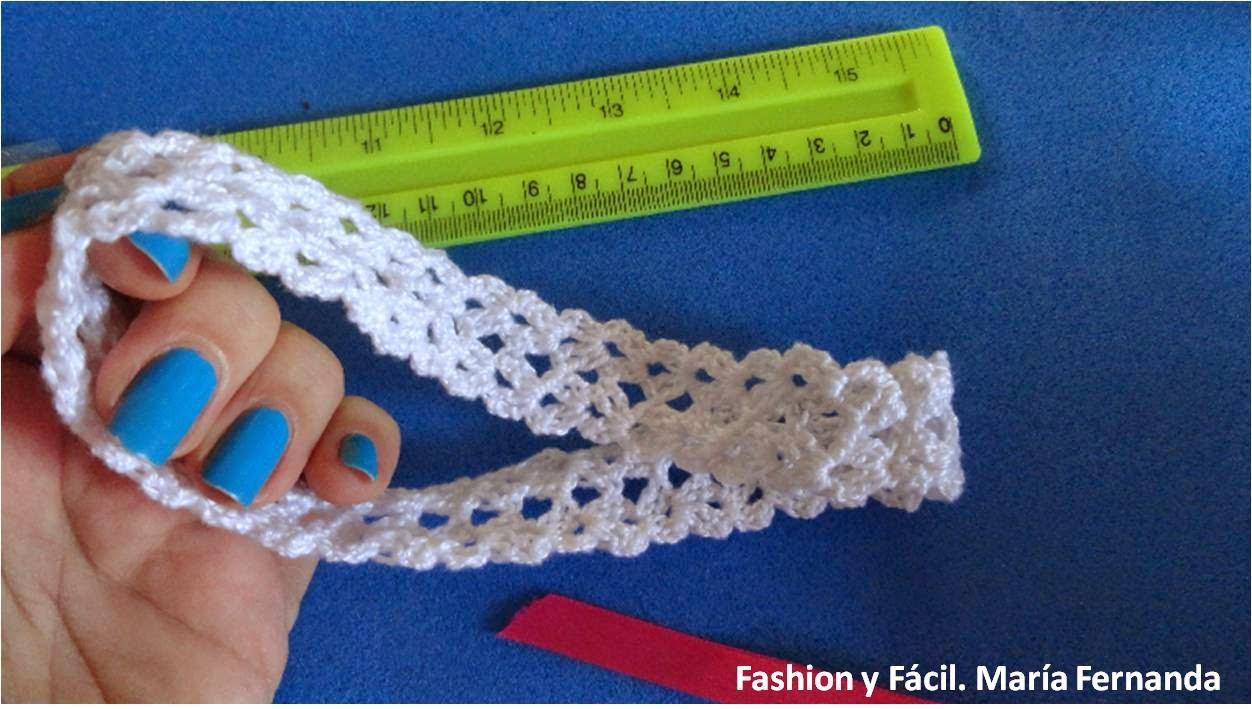 Fashion y f cil cintillo diadema o vincha para beb for Diademas para bebes de ganchillo