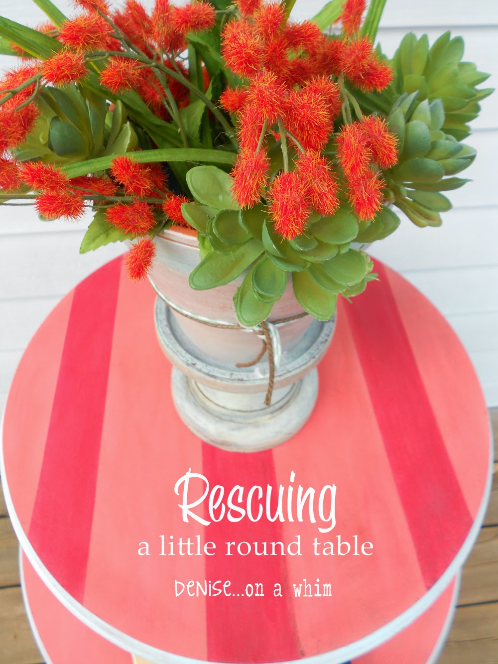 Rescuing a Little Round Table from Denise on a Whim