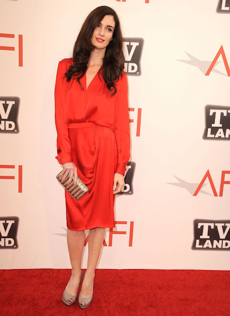 Spanish Actress Paz Vega At 2011 TV Land Event In Sexy Red Dress Hot Pictures