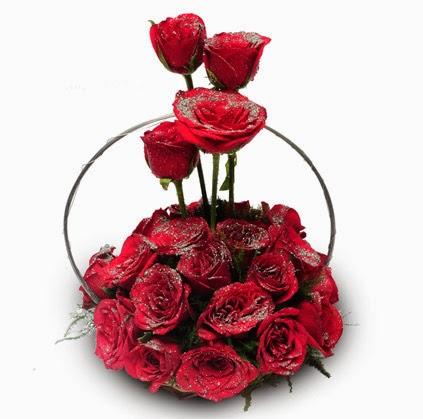Sliver glory flowers basket