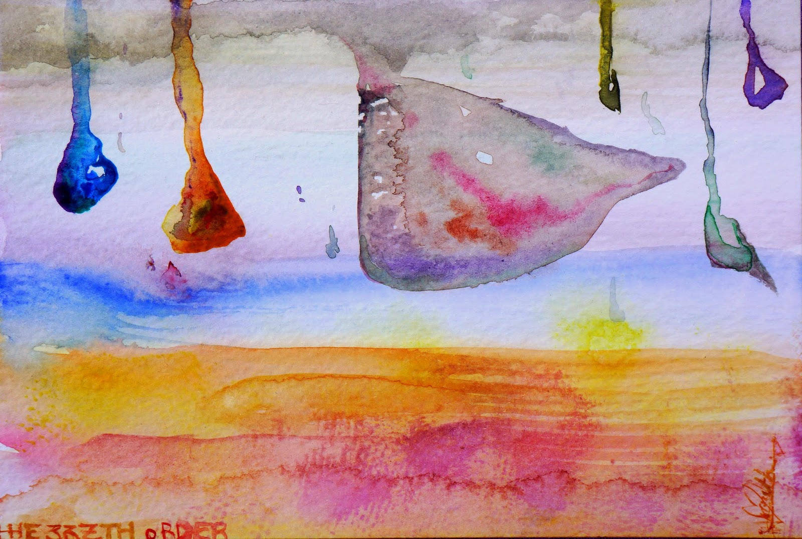 POSTCARD: Spilling life. Elizabeth Casua